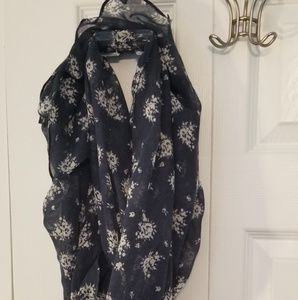 Jcrew never worn without tags navy floral scarf